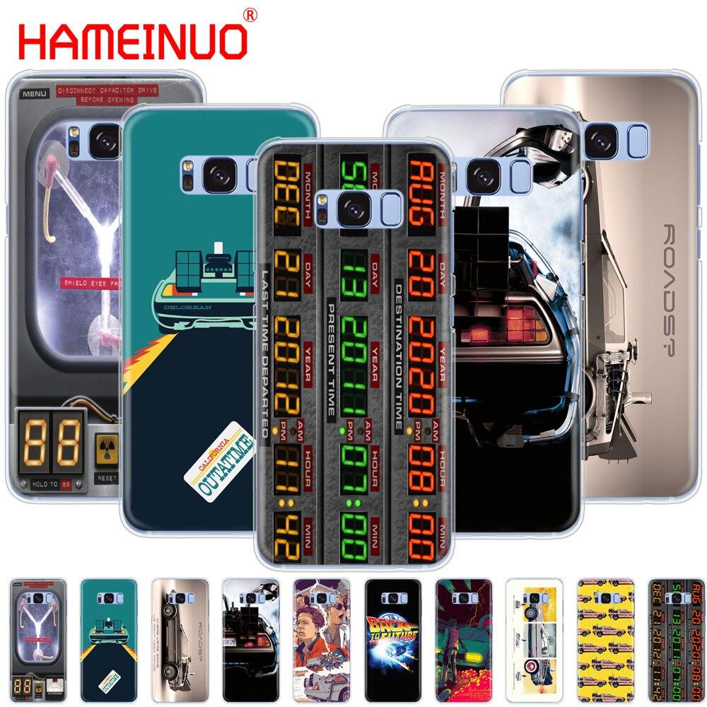 Back to the Future DeLorean Time Machine cell phone case cover for Samsung Galaxy S9 S7 edge PLUS S8 S6 S5 S4 S3 MINI