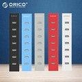 ORICO H7013-U2 7 Порта USB 2.0 ХАБ для MAC Ноутбук Отлично с 30 СМ Кабель для Передачи Данных-Черный/Белый/серый/Синий