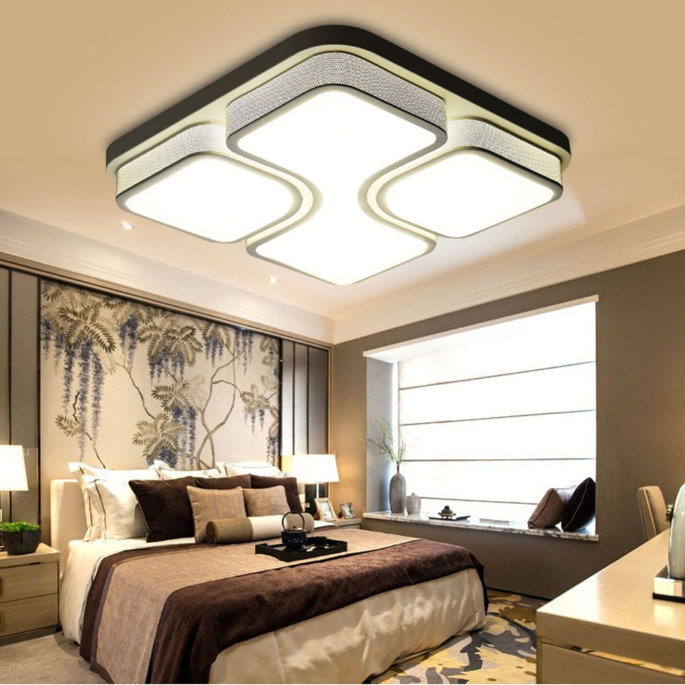 plafonnier led modern ceiling light luminaire lamparas de. Black Bedroom Furniture Sets. Home Design Ideas