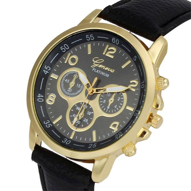 Fabulous fashion Casual Faux Leather Analog Wrist Watch Quartz Watches relojes m