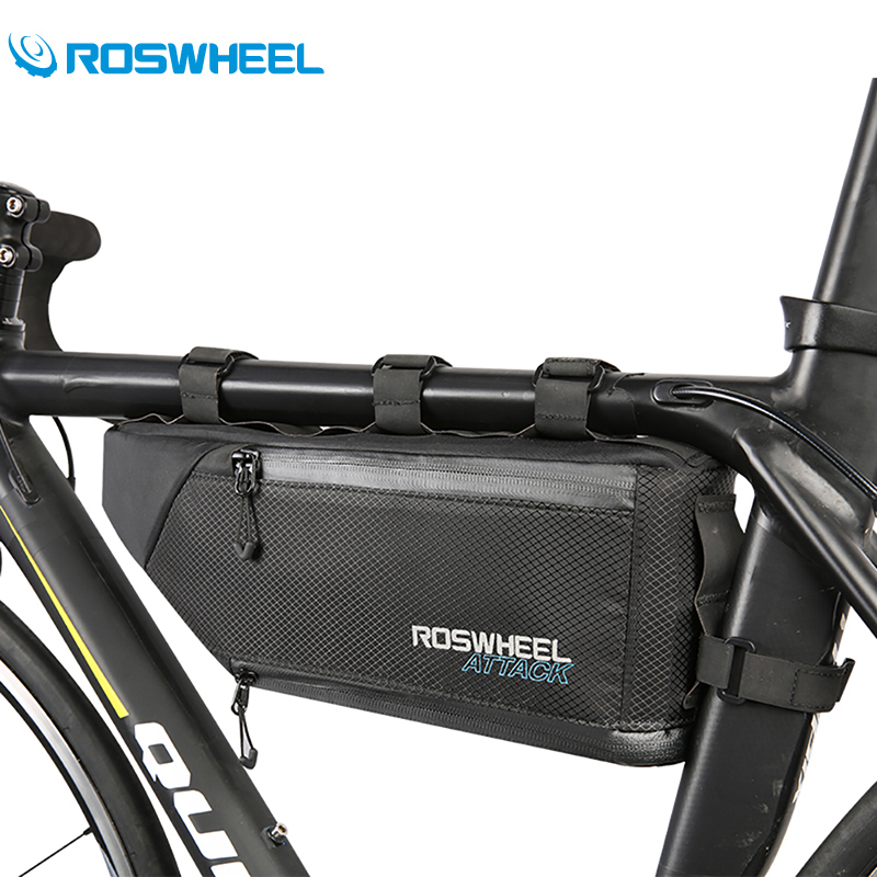 Roswheel Bike Bag 3+1L Waterproof Bicycle Tube Front Frame Bag Cycling Triangle Saddle Bag Bicycle Accessories Bolsa Ciclismo roswheel mtb bike bag 10l full waterproof bicycle saddle bag mountain bike rear seat bag cycling tail bag bicycle accessories