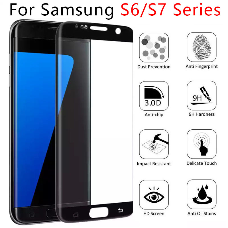 tempered glass for samsung s6 edge plus s7 s7edge protective glass screen protector on galaxy s6edge