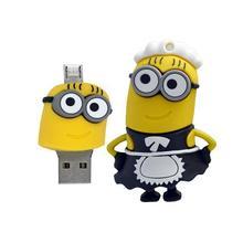 100 teile/los Smartphone OTG USB-Stick 8 GB 16 GB 32 GB 64 GB pen drive OTG externe speicher USB stick für handy pc ad geschenk