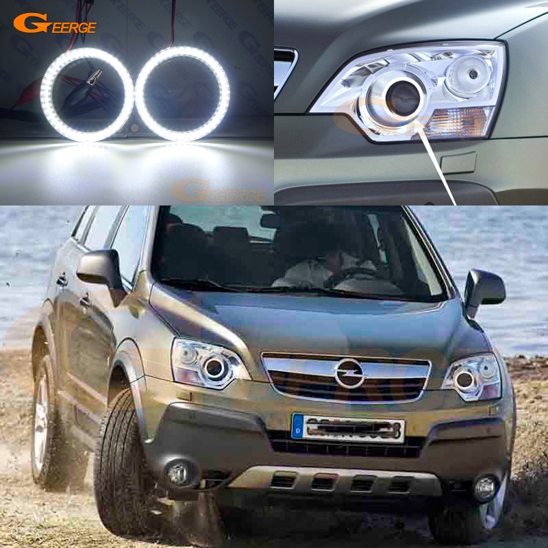 цены For Opel Antara 2006 2007 2008 2009 2010 xenon headlight smd led Angel Eyes kit Day Light Excellent Ultra bright DRL