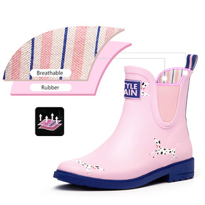 Image 5 - DRIPDROPยางธรรมชาติรองเท้าผู้หญิงข้อเท้าสั้นรองเท้าผู้หญิงลื่นแฟชั่นรองเท้าDalmatian Corgi Terrier