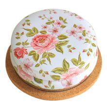 Portable Roud Tea Sugar Coffee Coin Storage Box Kitchen Flower Drawing Style Gift Tin Box 7
