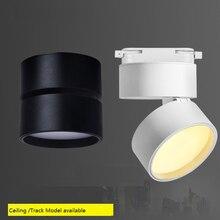 Lámpara de techo montada en superficie LED 85 265Vac 3W/7W/12W/18W, luz giratoria plegable y de 360 grados luz de fondo en aerosol