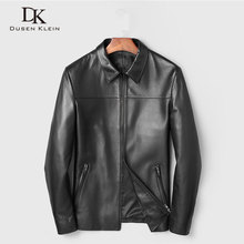 Men Genuine Leather Jacket Real Sheepskin Jackets Casual Short Black Stand Collar Pockets 2019 Autumn New Jacket for Man 19C211F цена 2017