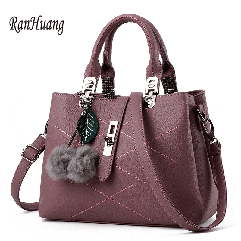 ФОТО RanHuang Women Fashion PU Leather Handbags High Quality Leaf Designer Handbags Ladies Shoulder Bags Black Red bolsas feminina