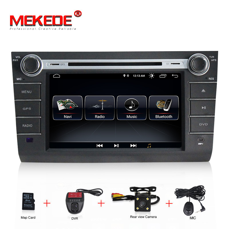 1024x600 2DIN Android 8.1 system CAR DVD PLAYER FOR suzuki swift 2004 2005 2006 2007 2008 2009 2010 BT gps navi 8G SD MAP