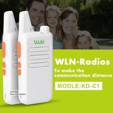 2 шт./лот KD-C1 UHF 400-470 мГц Мини Портативный трансивер Walkie Talkie Портативный радиолюбителей портативной рации Аксессуары