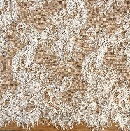 3 Styles qualité lourde voiture os cils dentelle tissu bricolage mariage couture tissu robe de mariée dentelle tissu largeur 150 cm 3 m/pièce-in Dentelle from Maison & Animalerie    1
