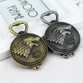 2017 Fashion Game of Thrones Beer bottle opener father's day tool metal Jewelry Alloy keychain key rings pendant keys cerveja