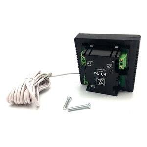 Image 4 - 新しいタッチスクリーン Lcd ディスプレイ暖かい床温度コントローラ 85 〜 240V 16A 電気床暖房ルームサーモスタット