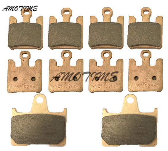 Motorcycle Parts Copper Based Sintered Motor Front & Rear Brake Pads For Suzuki GSXR1000 K3 2003 2004 motorcycle parts copper based sintered motor front