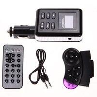 Новые Bluetooth Car Kit Fm-передатчик Mp3-плеер Музыка Стерео радио FM Модулятор Автомобильный Комплект TF USB с Рулевого Колеса USB/SD/MMC