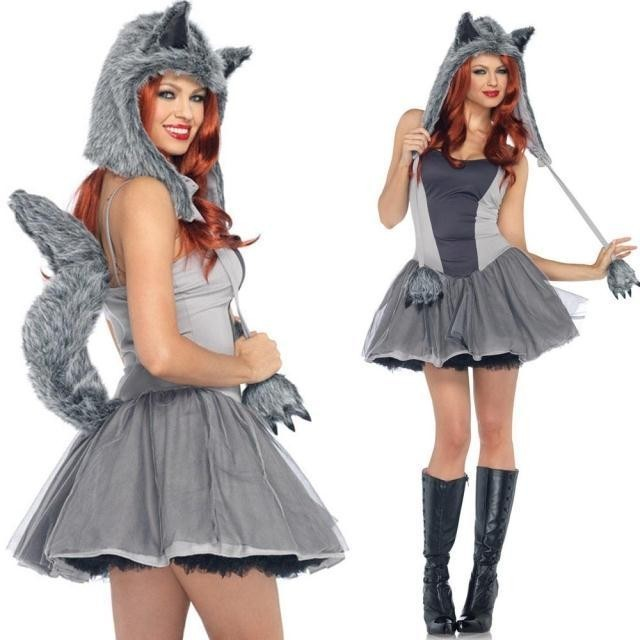 squirrel halloween clothes cat womens uniforms ds costume