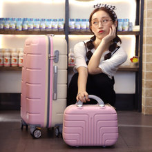 trend suitcase units 13+26 inch baggage, spinner rolling baggage, girls boarding luggage, suitcase with lock