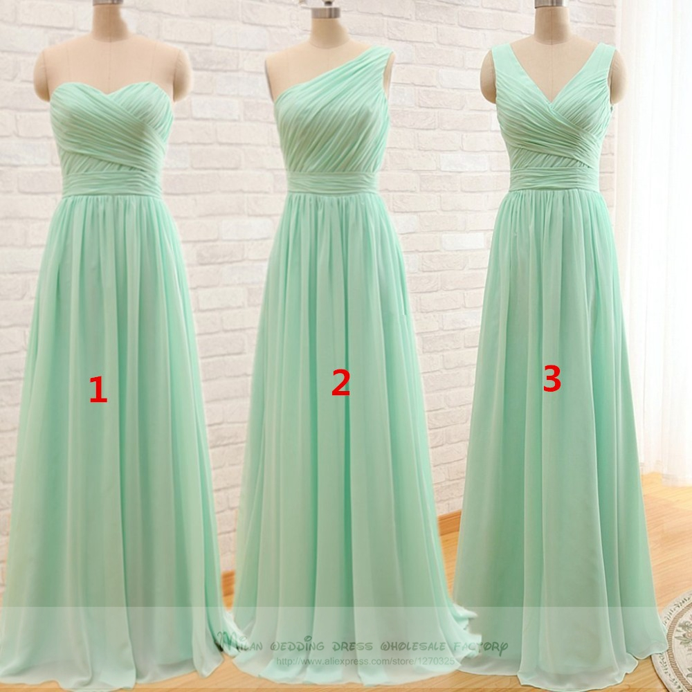 buy robe demoiselle d 39 honneur 2017 new chiffon 3 style a line mint green. Black Bedroom Furniture Sets. Home Design Ideas