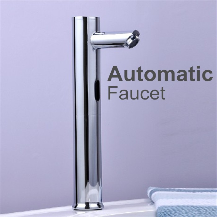 Brass Automatic Bathroom Faucets HOT AND COLD Water Sense Faucets Basin Hand Washer DC6V/AC220V brass automatic sensor faucets cold and hot water mixer sense faucet basin hand washer deck mounted faucet