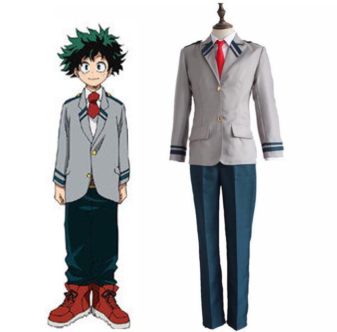My Boku no Hero Academia Cosplay Katsuki School Uniform Midoriya Izuku Bakugou