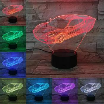 VCity Night Light Racing Car 3D Lamp Gifts for Car Birthday Present Limousine Led Flashlight Bedside Decoration Luminaria Lights image