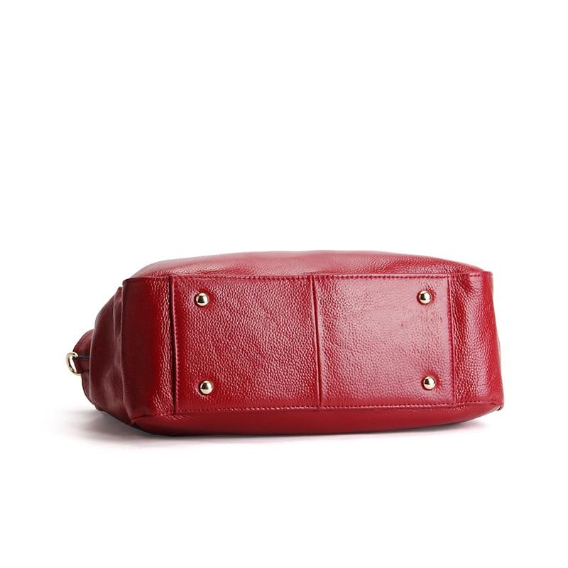 AODUX Europese Brand Echt Echte Koe Lederen Vrouwen Schoudertas Crossbody Mode Tas Handtassen Lange Strap Messenger Tassen Satchel - 6