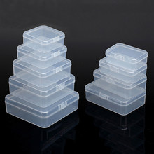Plastic Small Transparent Box For Storage Jewelry Pill Chip Organizer Container Case Nail Art Battery Gadgets Boxes Waterproof(China)
