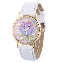 Fashion Women Quartz Watch Casual Women's Owl Pattern Leather Young Sports Watch Dress Wristwatches Clock Relogio Feminino