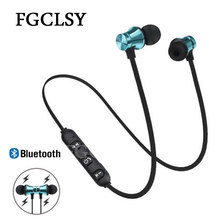 FGCLSY Magnetic music bluetooth earphone XT11 sport running wireless bluetooth headset with Mic For iPhone 8 X 7 Xiaomi(China)
