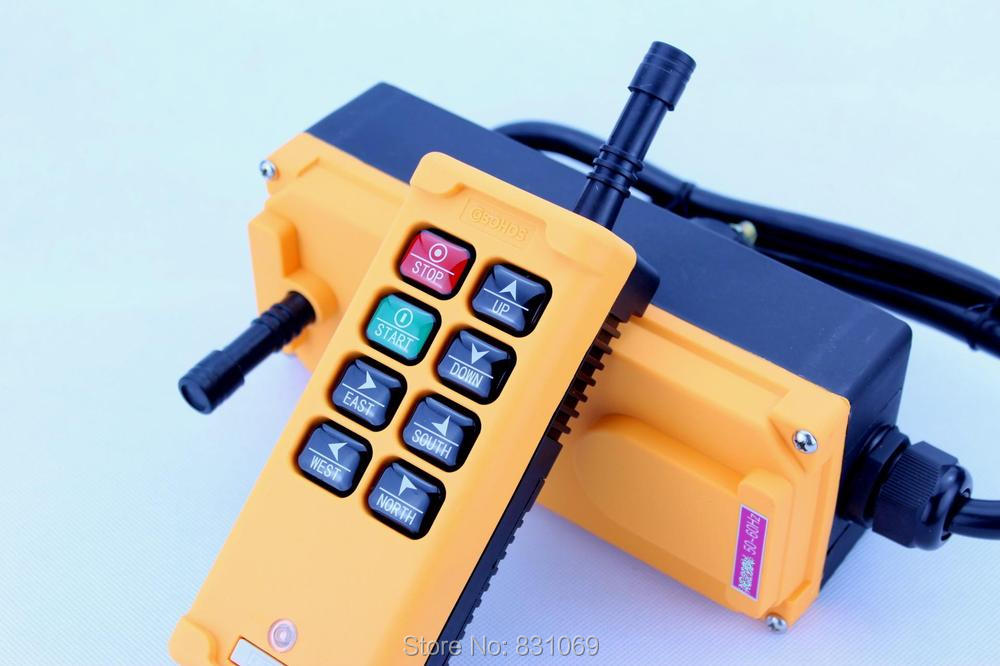 все цены на  1pcs HS-8 AC220V 8 Channels Control Hoist Crane Radio Remote Control Sysem Industrial Remote Control Brand New  онлайн