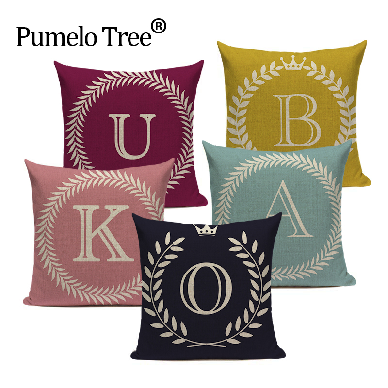 Colorful Nordic Style Letter Kussenhoes Sofa Seat Car Seat Farmhouse Pillows Gift Pillow Case Covers Home Office Furniture Decor