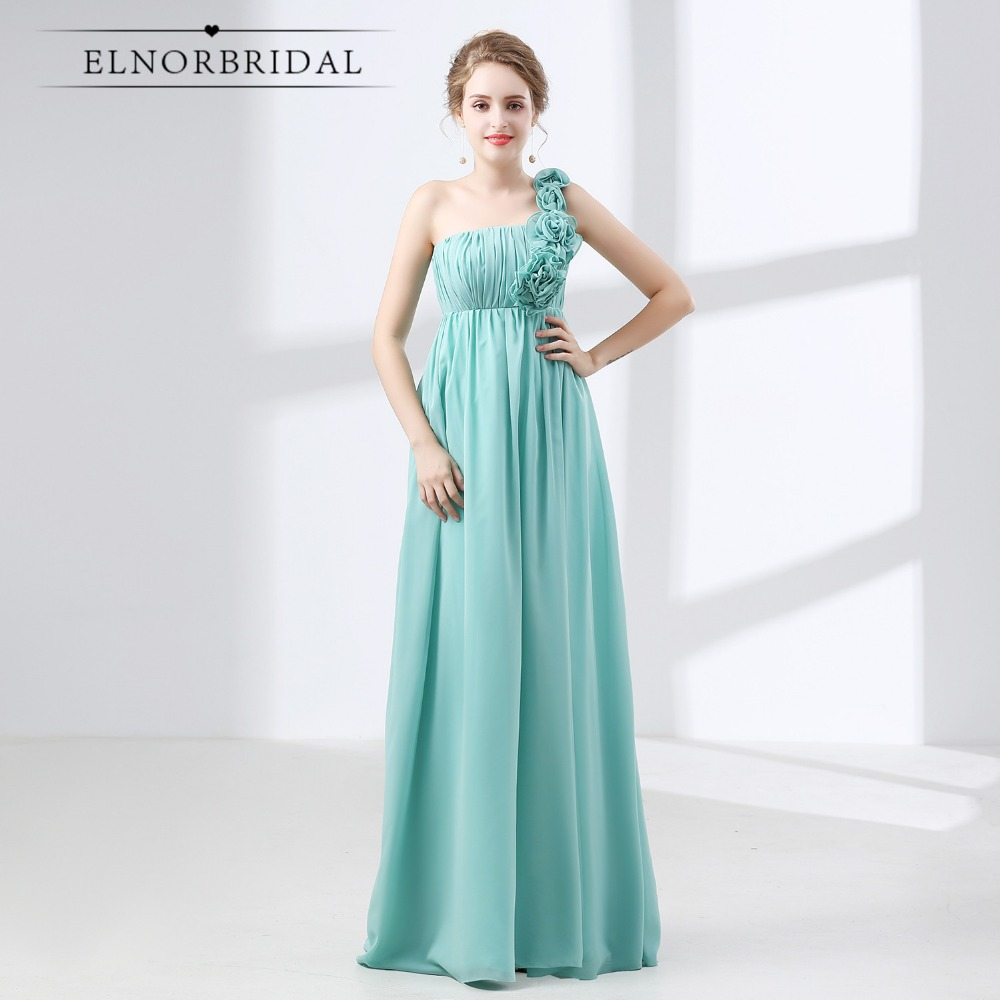 One Shoulder   Bridesmaid     Dresses   Long 2018 Robe Demoiselle D'Honneur Pour Femme Floor Length Maid Of Honor   Dress