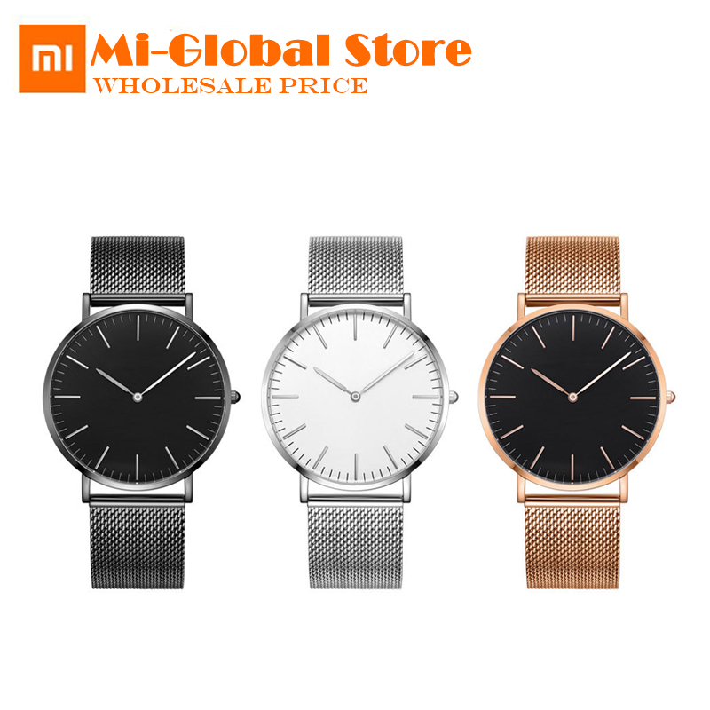 Original <font><b>Xiaomi</b></font> <font><b>youpin</b></font> TwentySeventeen Series Ultra-thin Quartz Watch Casual Business Wrist Watch Waterproof Couple Quartz Watch image