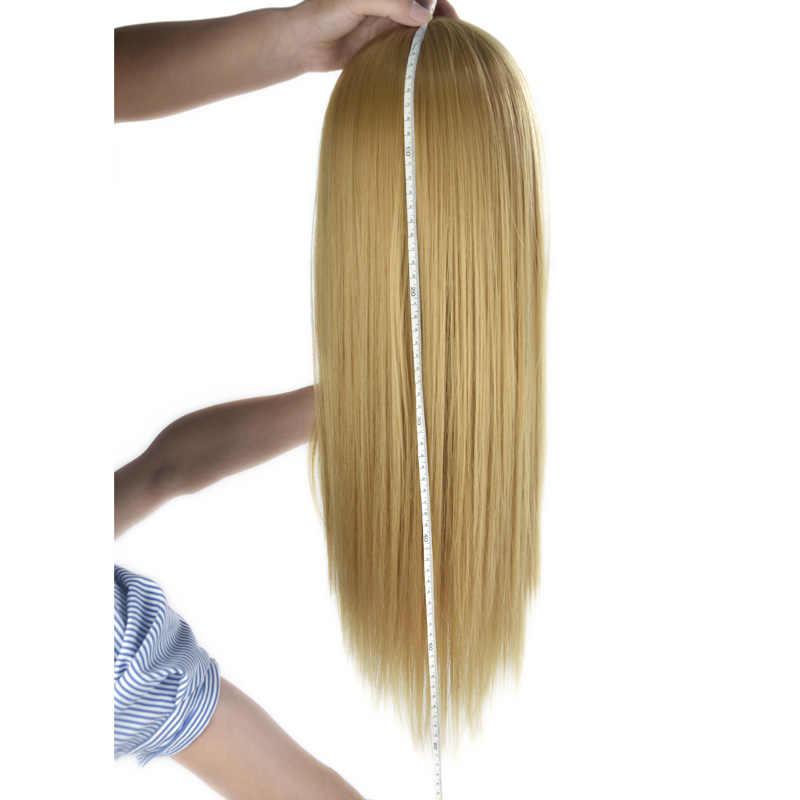 """26 """"100% Hoge Temperatuur Fiber Lang Haar Hairdressing Training Hoofd Model Met Klem Stand Practice Salon Mannequin Hoofd Dummy"""