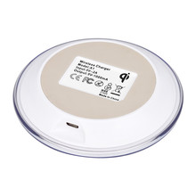 Portable Mini Acrylic QI Wireless Charger Charging Pad Mat for Iphone 8/8 Plus/X Ultrathin Lightweight Fast Charge