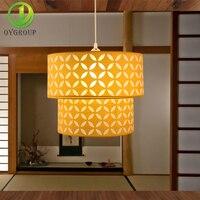 현대 펜 던 트 조명 노란색 더블 데크 실내 램프 로맨스 따뜻하고 달콤한 홈 장식 조명기구 다이닝 룸 바