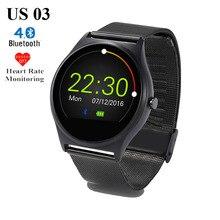 Горячая US03 Bluetooth Smart Watch MTK2502C 128 М/64 М Сна Монитор Сердечного ритма Шагомер Наручные Часы для IOS Android Телефон Smartwatch