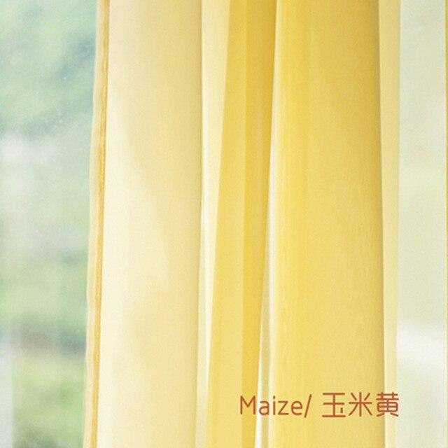 Stile Americano europeo Multicolor Bay Finestra di Screening Tende Porta Solido Drape Pannello Sheer Tulle per Soggiorno WP184 #3 -40