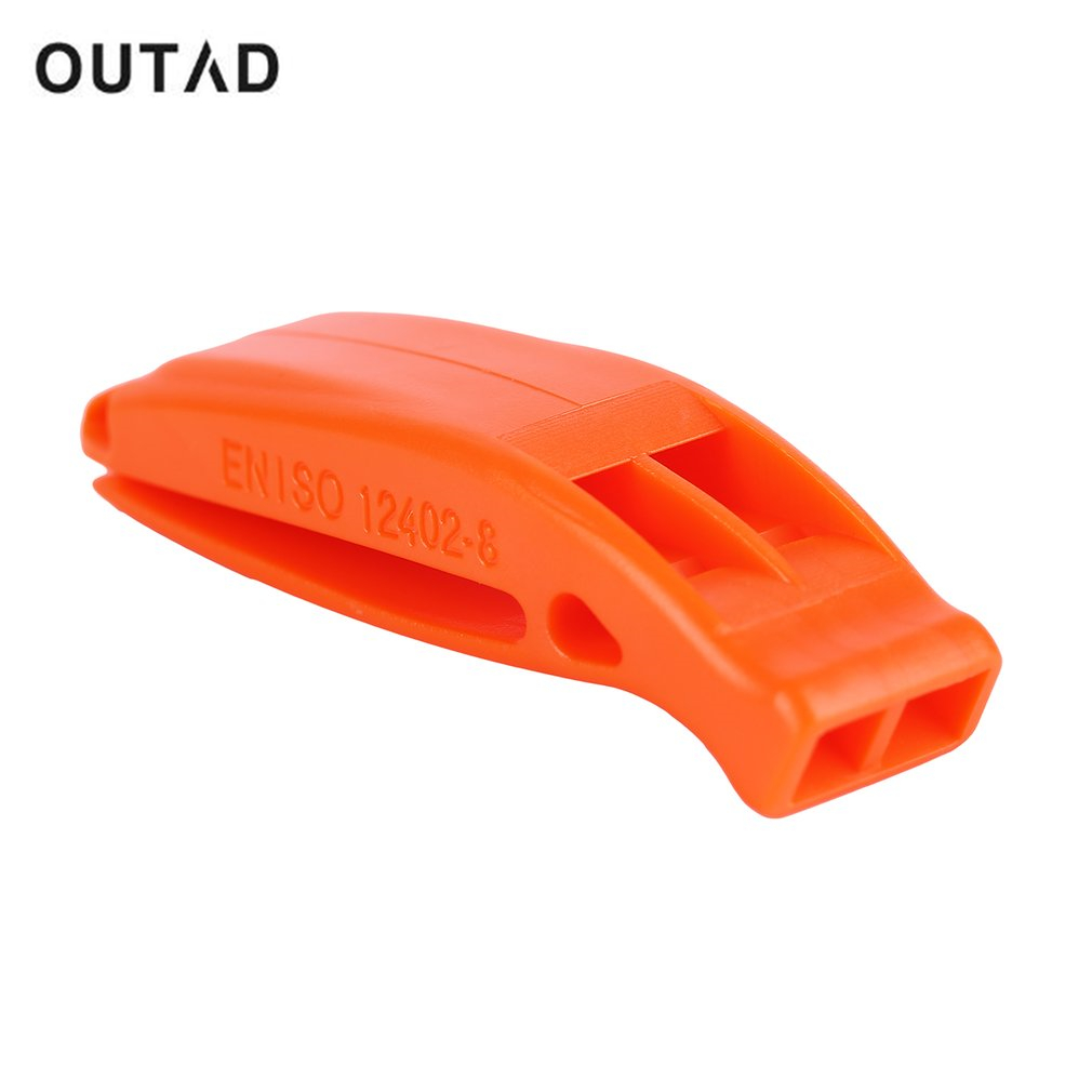 OUTAD 3.7*1.2cm Hiking Camping Portable Plastic Whistle Survival Rescue Emergency Warning Louder Cheerleading Whistle Safe+Clip