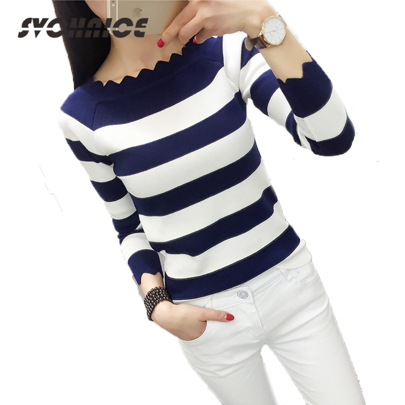 Spring Striped Jumper Women 2018 Fashion Slim Knitted Bottoming Sweater Tops Female Autumn Casual Pullovers Pull Femme