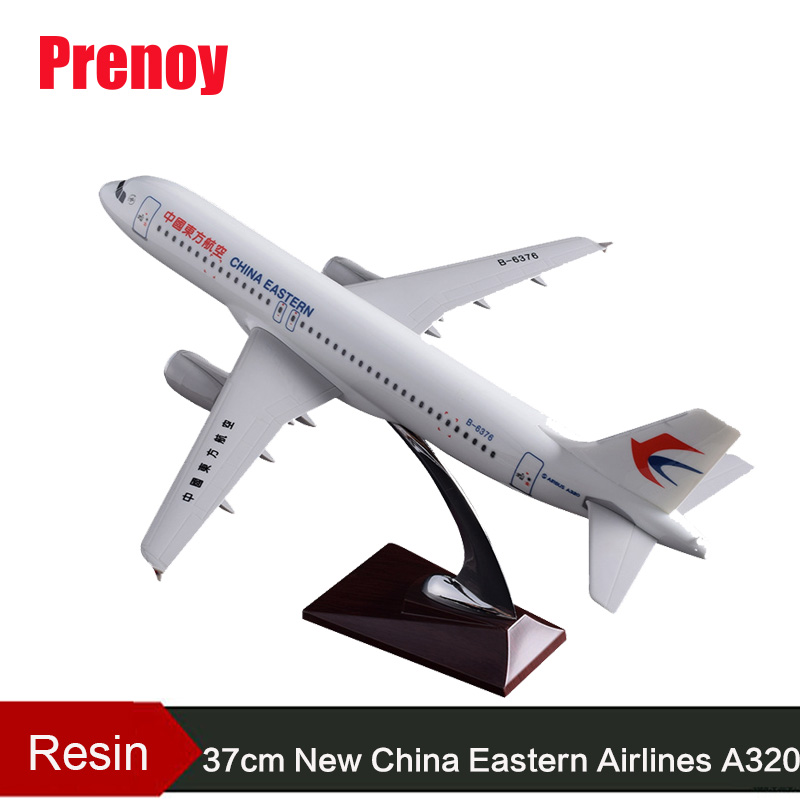 37cm A320 New China Eastern Airlines Plane Model Resin New Eastern Airways Airbus Model New Eastern Aircraft Aviation Model Toys phoenix 10596 a330 200 b 6538 chinese eastern airlines skyteam no 1 400 commercial jetliners plane model hobby