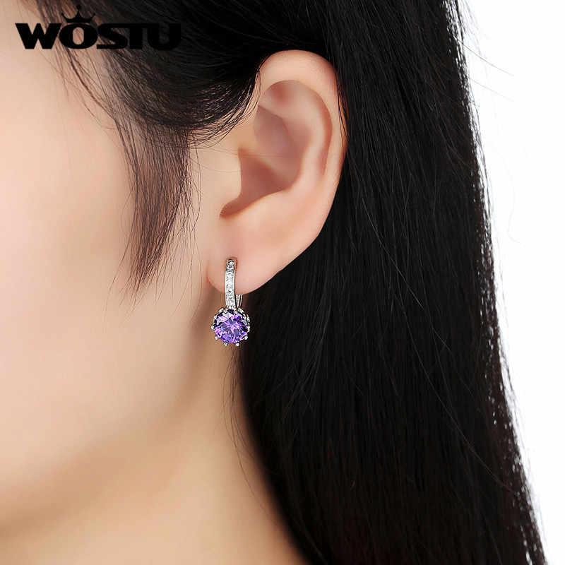 ต่อรองราคาแฟชั่น Gorgeous Hoop ต่างหูสำหรับผู้หญิง AAA CZ Luxury White Gold สีต่างหูขายส่งเครื่องประดับของขวัญ