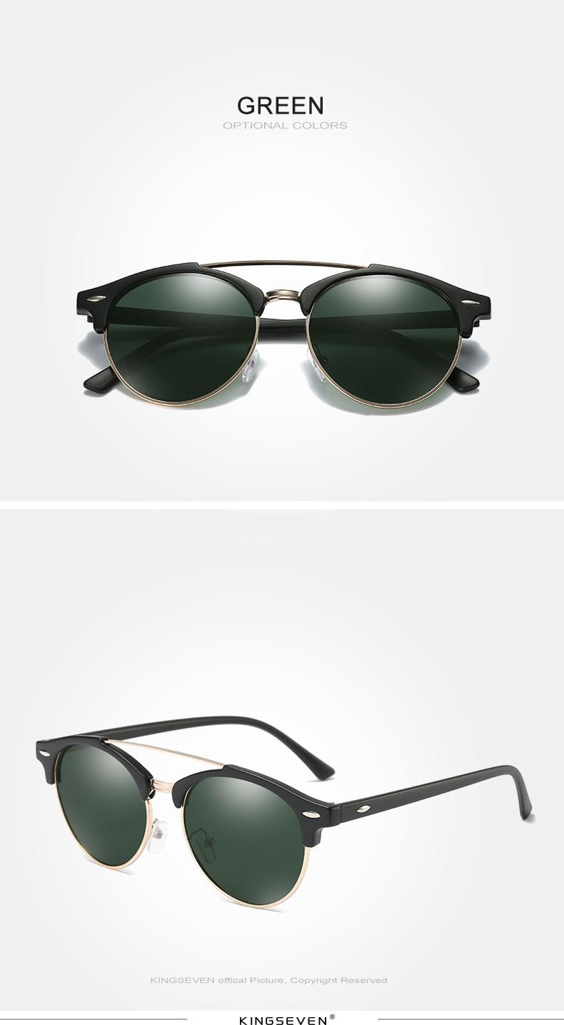 17 KINGSEVEN Retro Rivet Polarized Sunglasses Women Classic Brand Designer Sun glasses Eyewear Bridge Frame Oculos Gafas N7346 8