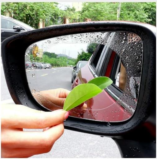 Self-Conscious 2pcs Car Rearview Mirror Protective Film Anti Fog Window Clear Rainproof Rear View Mirror Protective Soft Film Auto Accessories