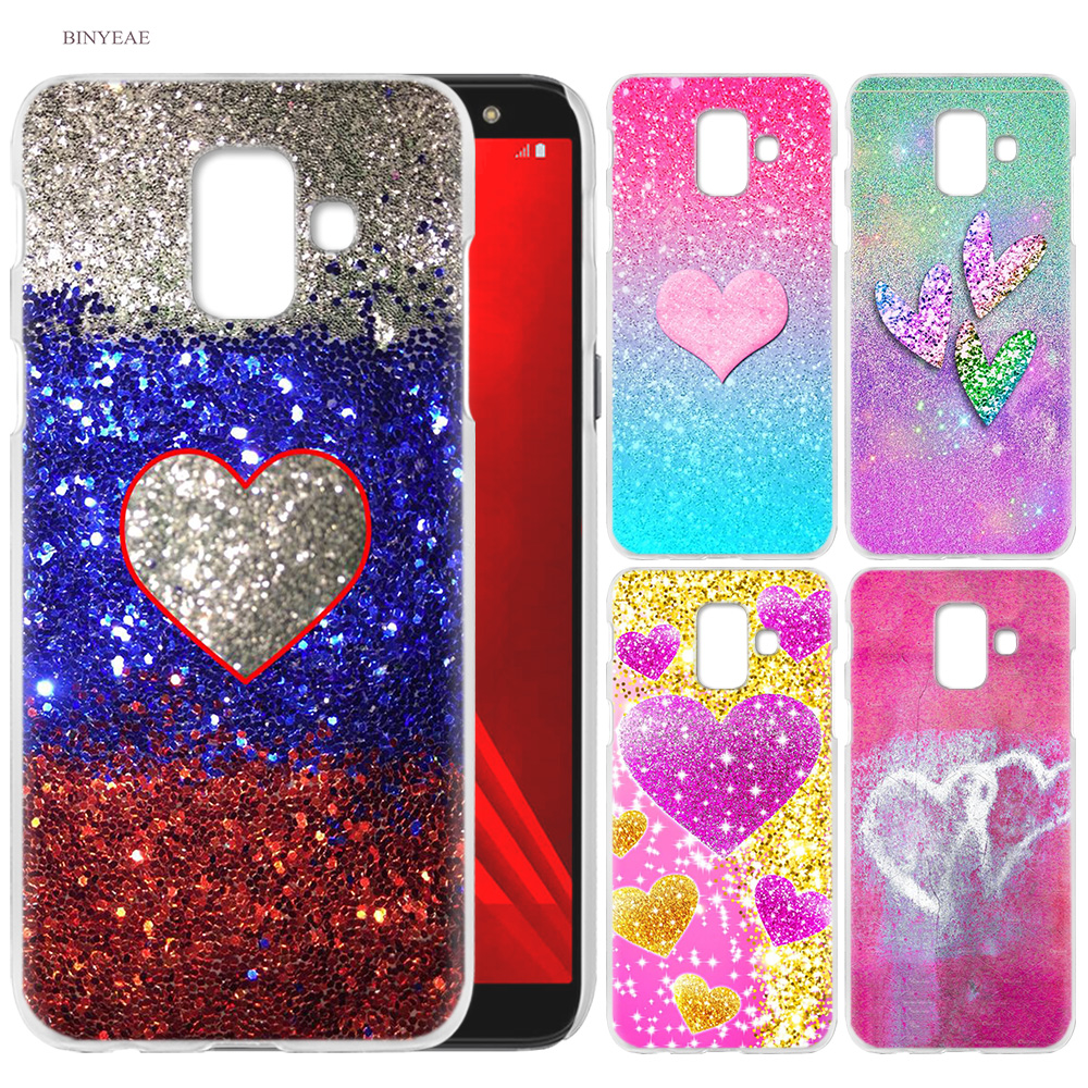Cell Phone Case for Samsung Galaxy S9 S8 S7 Edge Plus A6 A7 A8 A9 J4 J6 Plus 2018 Note 8 9 Cover colorful heart blue silver red