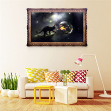 5D diy Diamond painting night cat cross stitch Round Stone Home Decor Needlework Diy Diamond Embroidery ZS314