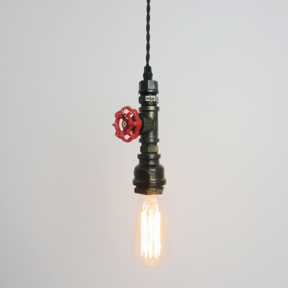 American Countryside Edison Industrial Retro Bar Table pendant lights Indoor Iron pendant lamp Rust Water Pipe light E27