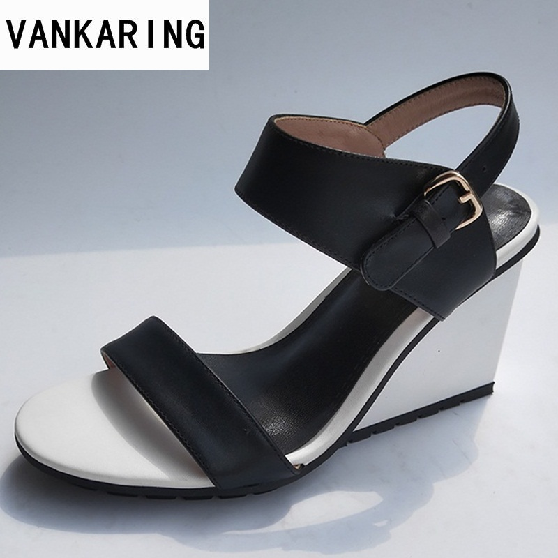 VANKARING wedges high heels 2018 new fashion gladiator women platform sandals ladies office dress party shoes casual sandals