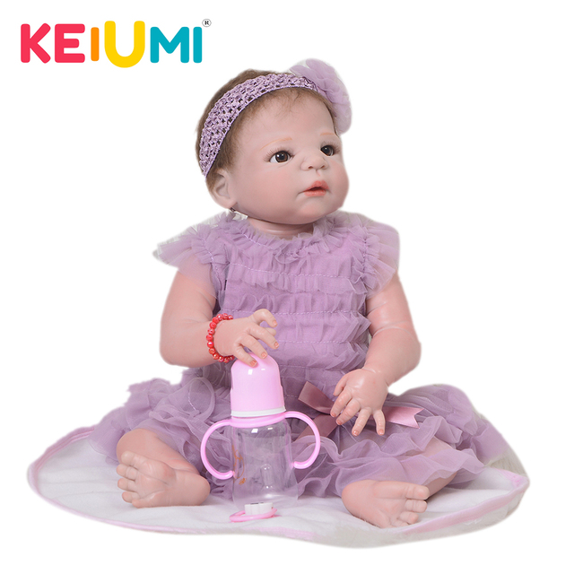 70e4f3f42 KEIUMI Lifelike 23   57 cm Reborn Girl Baby Doll Full Vinyl Body Red ...